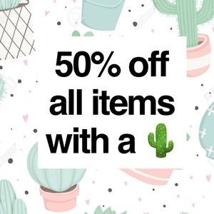 ✨SALE✨ 50% off items marked with a 🌵